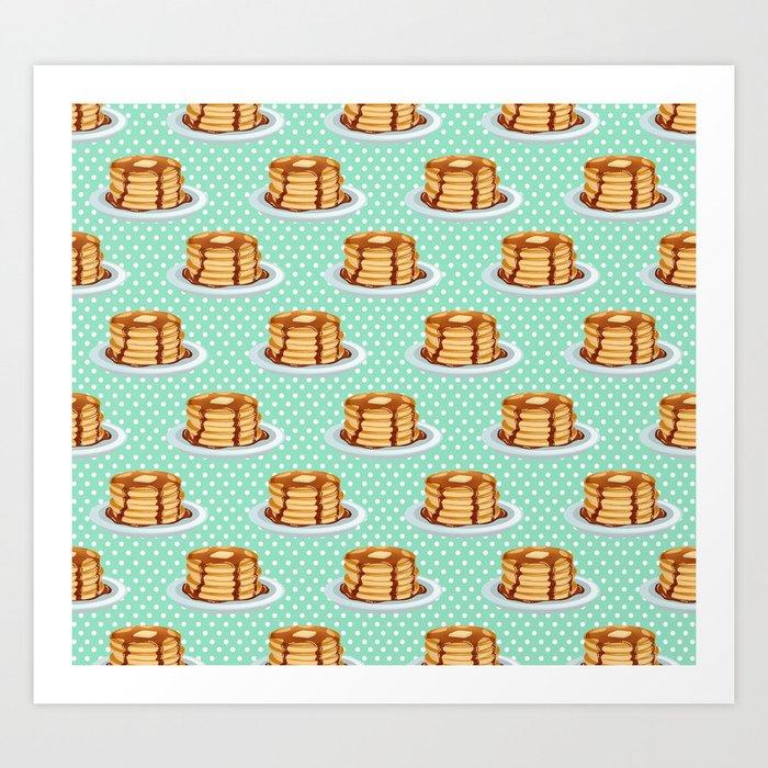 Pancakes & Dots Pattern Kunstdrucke