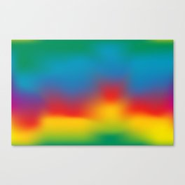 Abstract Colorful Aurora Canvas Print