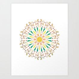 Fall Mandala Art Print