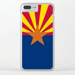 Arizona State flag, Authentic scale & color Clear iPhone Case