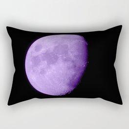 4K Dark Side of the Moon Violet Rectangular Pillow