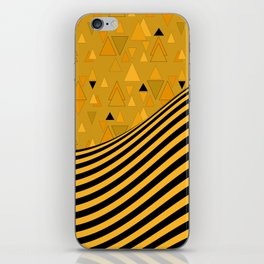 Yellow , black , striped iPhone Skin