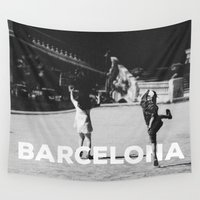 barcelona Wall Tapestries featuring Barcelona by HMS James