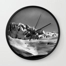 Snow black ad white Wall Clock