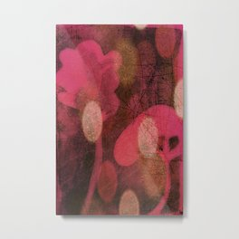 Monoprint Series Pink 1 Metal Print