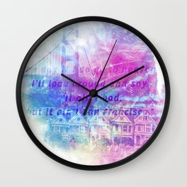 it aint san francisco Wall Clock