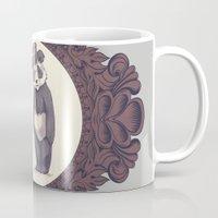 darwin Mugs featuring Charles and Darwin by The Batty Bird