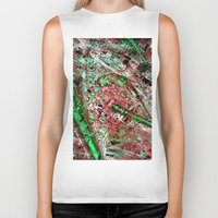 los angeles Biker Tanks featuring los angeles by donphil