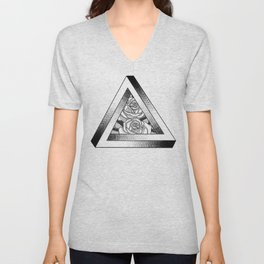 Pen-Rose Triangle Unisex V-Neck