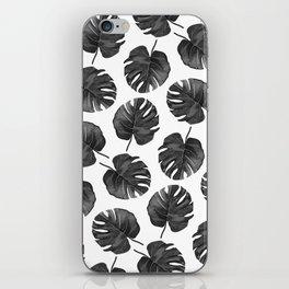 Palm Cuts (Black & White) iPhone Skin