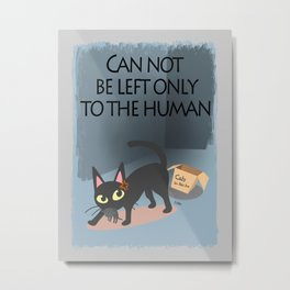 I protect the kitten Metal Print
