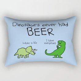 Dinosaurs Never Had Beer Rectangular Pillow