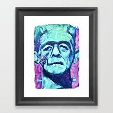 Frankenstein Halloween Zombie Framed Art Print