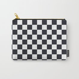 Classic Checkerboard Pattern Carry-All Pouch