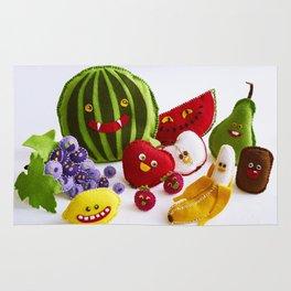 Funny fruits Rug