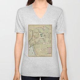 Vintage Map of New Haven CT (1865) Unisex V-Neck