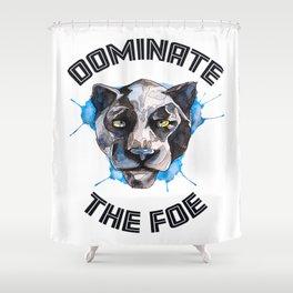 Dominate the Foe Shower Curtain