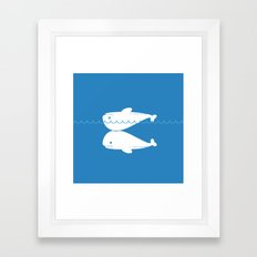 Whale resuscitation Framed Art Print