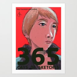 365 Days of Sketches Art Print