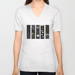 Space and Stars Unisex V-Neck