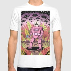 The Dead Spaceman White LARGE Mens Fitted Tee