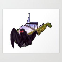 Wild and Wonderful Mothman Art Print