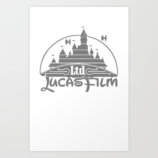 DisneyFilm logo Art Print