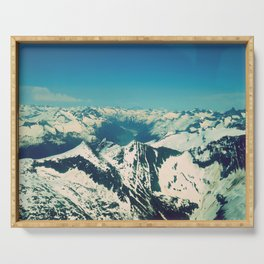 Mountain Peaks   Photography Serving Tray