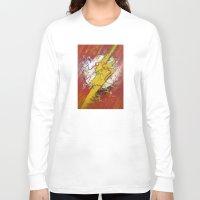 the flash Long Sleeve T-shirts featuring Flash by Big Tortoise Art (Art by JasonKoelliker)