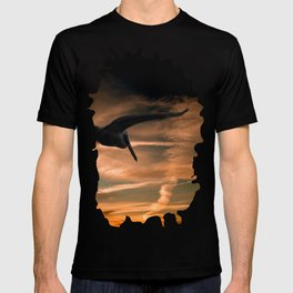 Pelican Flying at Sunset T-shirt