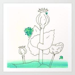 Poppy Seed Wash Art Print