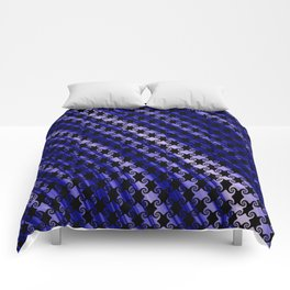 Blue Swirly Pattern with Creases Comforters