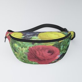 Ranunculus and Violas Fanny Pack