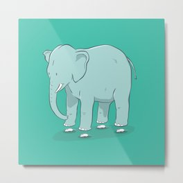The myth powered levitating elephant Metal Print