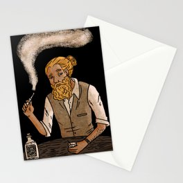 Man with beard Stationery Cards