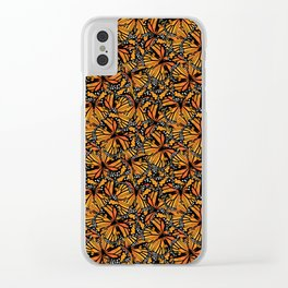 Monarch Butterflies Clear iPhone Case