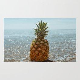 Pineapple on the beach Rug