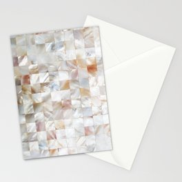 Mother of Pearl, Exotic Tiles Photography, Neutral Minimal Geometrical Graphic Design Stationery Cards