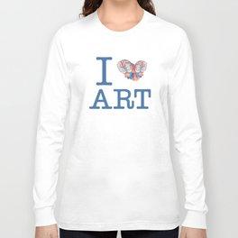 I Heart Art Long Sleeve T-shirt