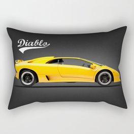 The Diablo Supercar Rectangular Pillow