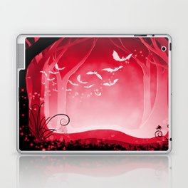 Dark Forest at Dawn in Ruby Laptop & iPad Skin