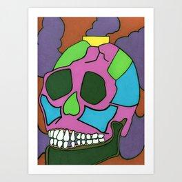 Colorful Skull. Art Print