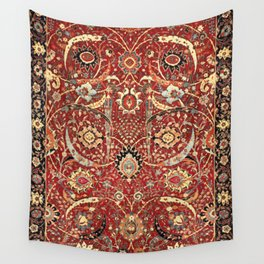 Sickle-Leaf 17th Century Antique Persian Carpet Print Wall Tapestry