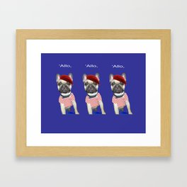Hello from Pierre the French Bulldog Framed Art Print