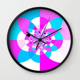 Kaleidoscope Mandala Orchid Lavender Blue Wall Clock