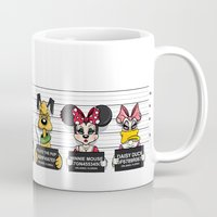 minnie mouse Mugs featuring Bad Guys / Minnie Mouse by mebz art