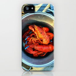 Maine Lobster Pot (1) iPhone Case