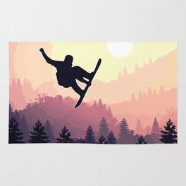 Snowboard Skyline III Rug