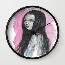 Innocent Chinese Girl Wall Clock