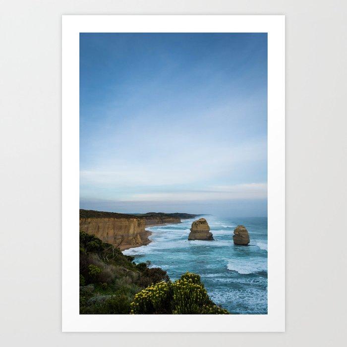 Twelve Apostles in Blue Art Print